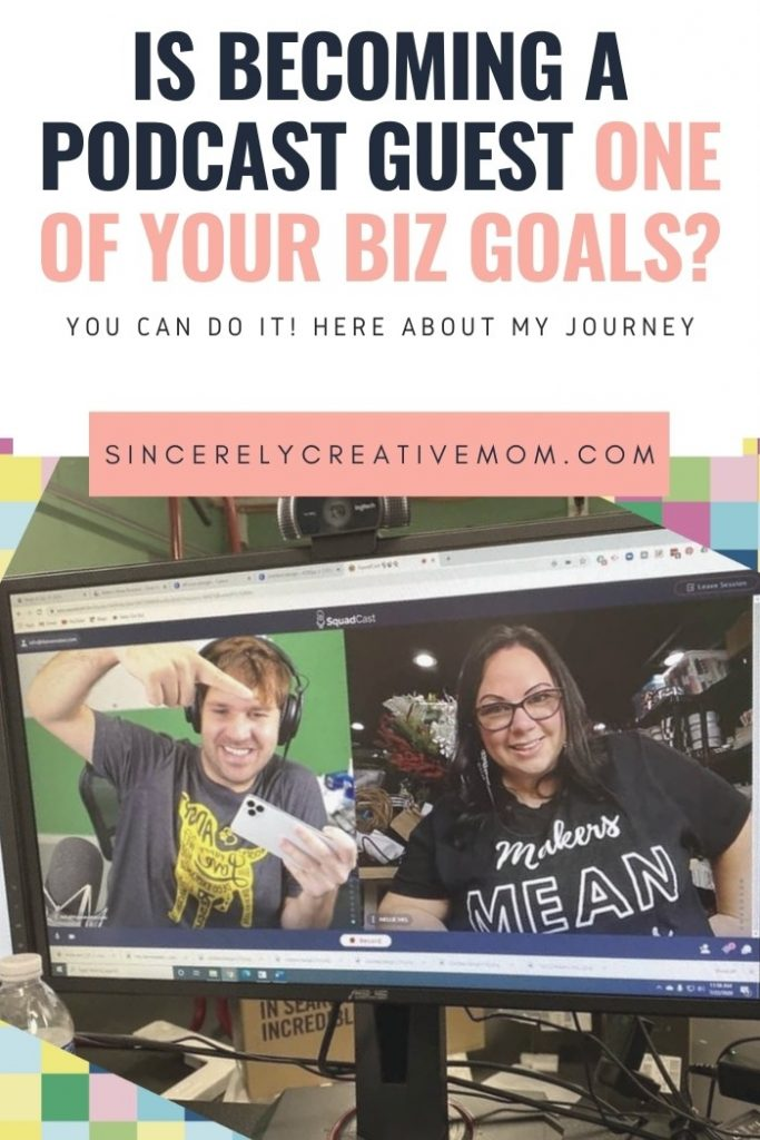 Mellie Mel from Sincerely Creative Mom being a podcast guest